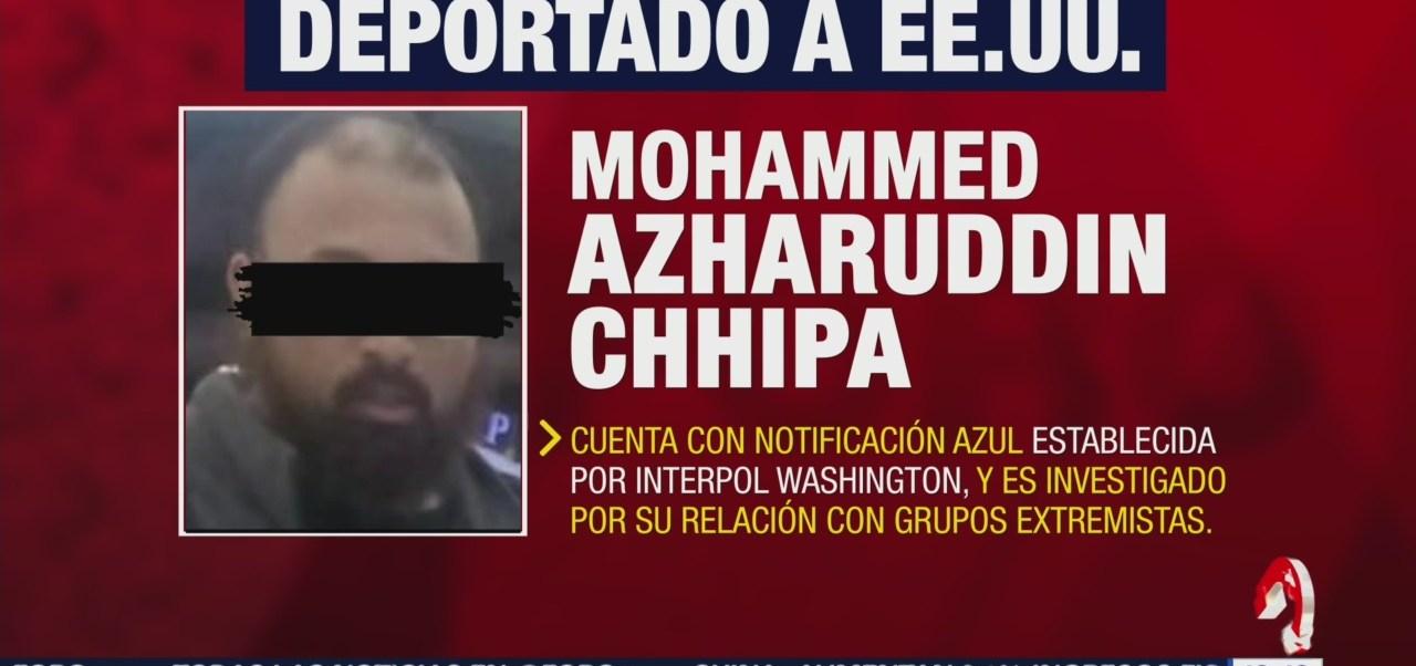 FOTO: FGR informa que deportó estadounidense con presuntos nexos con yihad