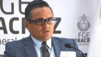 Foto: El Fiscal Jorge Winckler aseguró que se dará con los responsables, 7 de agosto de 2019 (Twitter FGE_Veracruz)