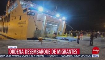 Foto: Fiscalía Italiana Ordena Desembarque Open Arms 20 Agosto 2019