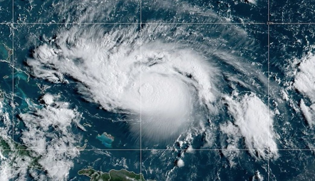 "Foto: Imagen satelital del huracán ""Dorian"". Twitter/@NOAA"