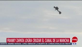 FOTO: Franky Zapata logra cruzar el canal de la Mancha, 4 Agosto 2019