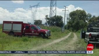 FOTO:Fuga de gas LP por toma clandestina en Puebla, 25 Agosto 2019