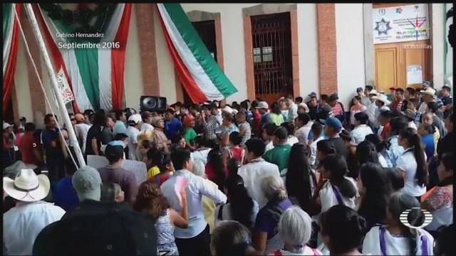 Foto: Gasoducto Tuxpan-Tula Parado Conflicto Otomíes 27 Agosto 2019