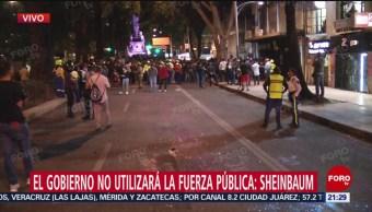 Foto: El gobierno de CDMX insiste que no caerá en provocaciones por manifestaciones de mujeres contra la violencia de género 16 Agosto 2019