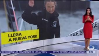 Greta Thunberg cruza el Atlántico en velero 'cero carbono'