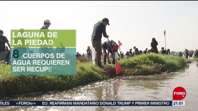 FOTO: Grupo Televisa ayuda a limpieza de la Laguna de la Piedad, en Cuatitlán Izcalli, 17 Agosto 2019