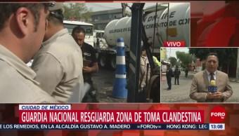 FOTO: Guardia Nacional Resguarda Zona Toma Clandestina CDMX