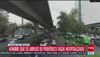 Foto: Hombre Aventó Periférico CDMX Hospitalizado 21 Agosto 2019