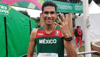 Foto: El marchista Horacio Nava logró la medalla 135 para México en Panamericanos, 11 de agosto de 2019 (Twitter: CONADE)