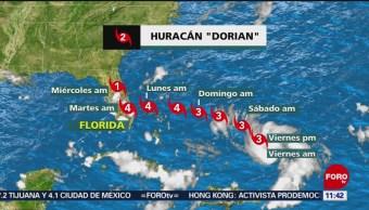 Huracán 'Dorian' que amenaza con golpear Florida y Georgia