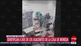 Identifican a dos de los asaltantes de la Casa de Moneda en CDMX