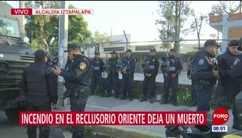 Incendio al interior del Reclusorio Oriente CDMX deja un muerto y 7 heridos