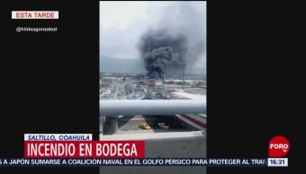 Foto: Incendio Bodega Saltillo Coahuila