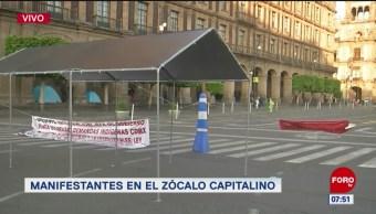 Indígenas de Oaxaca se manifiestan en el Zócalo CDMX