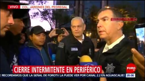 Foto: Diálogo Policías Federales Bloqueo Periférico Sur 29 Agosto 2019