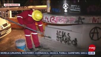 Foto: Inician Labores Limpieza Tras Protestas Mujeres Cdmx 16 Agosto 2019