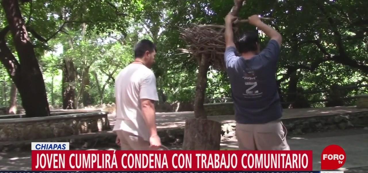 Foto: Joven Cumplirá Condena Trabajo Comunitario Chiapas 27 Agosto 2019