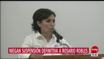 Juez niega suspensión definitiva contra orden de aprehensión a Rosario Robles