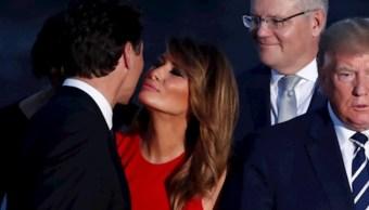 Foto:Justin Trudeau Melania Trump. 26 agosto 2019
