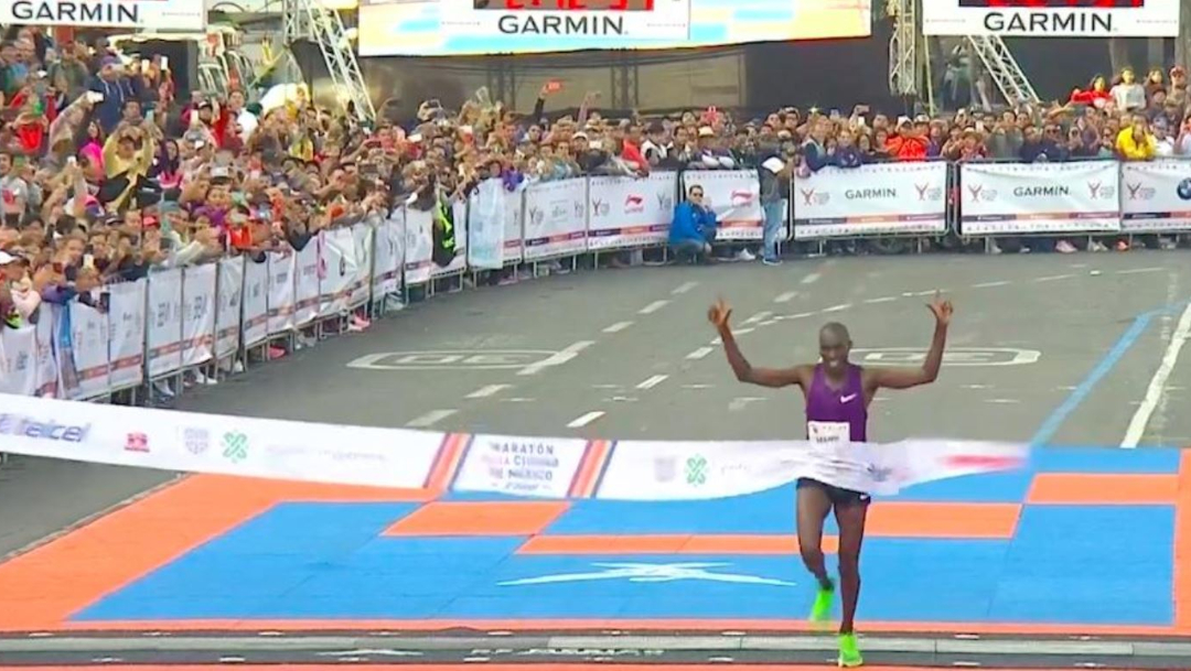 El keniano Duncan Maiyo fue el ganador del maratón de la Ciudad de México. (Tomada de video)
