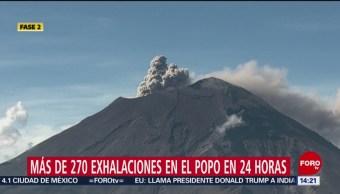FOTO:La mañana de este domingo, el Popocatépetl registró varias exhalaciones, La mañana de este domingo, el Popocatépetl registró varias exhalaciones, 18 Agosto 2019