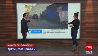 #LaCámaraUrbana en Expreso: Construcción sobre la vía pública