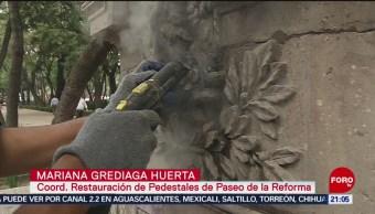 Foto: Limpian Esculturas Monumentos Pintadas Protestas Cdmx 27 Agosto 2019