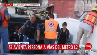 Línea 2 del Metro CDMX suspende servicio por persona que se arrojó a vías