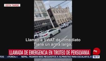Foto: Llamada emergencia 911 tiroteo Filadelfia Estados Unidos 14 agosto 2019