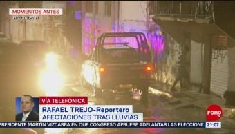 FOTO: Lluvias en Naucalpan provocan talud; no hay reporte de lesionados, 25 Agosto 2019