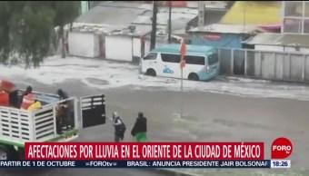 Foto: Lluvias Provocan Inundaciones Calzada Zaragoza Cdmx 23 Agosto 2019