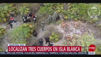 FOTO: Localizan tres cuerpos en Isla Blanca, Quintana Roo, 18 Agosto 2019