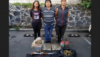 Detienen a tres presuntos integrantes de Los Rodolfos.