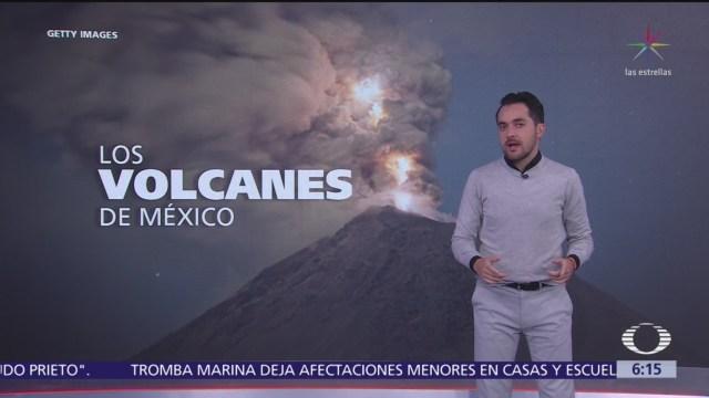 Los volcanes de México, el Popocatépetl el más monitoreado