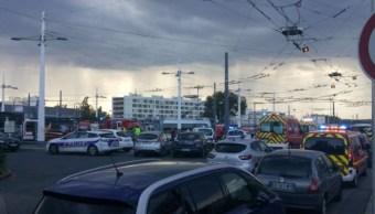 Foto: El ataque fue perpetrado con un cuchillo en una estación de metro en Villeurbanne, en Lyon, Francia, 31 agosto 2019