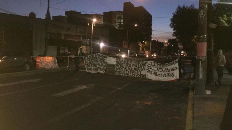 Foto Manifestantes bloquean avenida Azcapotzalco-La Villa 21 agosto 2019