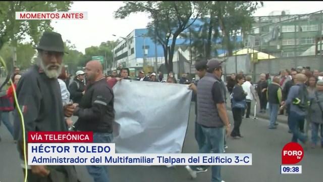 Manifestantes en Calzada de Tlalpan son ajenos a damnificados por sismo: Héctor Toledo