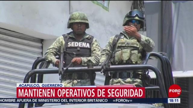 FOTO: Mantienen operativos seguridad Acapulco