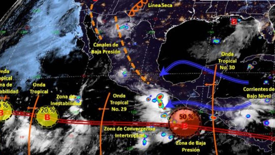 Foto: Imagen de fenómenos meteorológicos significativos de las 06:00 horas, 18 agosto 2019