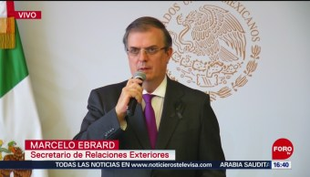 FOTO: Marcelo Ebrard anuncia acciones legales por tiroteo en El Paso, Texas, 4 Agosto 2019
