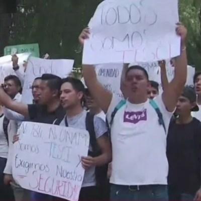 Marchan estudiantes de ITESCI para exigir justicia por compañero asesinado