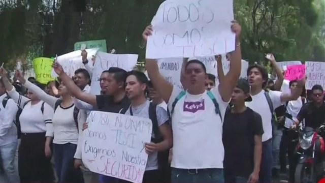 Foto: Marchan estudiantes de ITESCI para exigir justicia por compañero asesinado, 30 agosto 2019