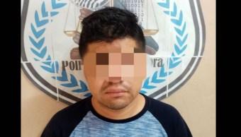 Foto detienen a sujeto que mató a su esposa y se llevó a su hija 30 agosto 2019