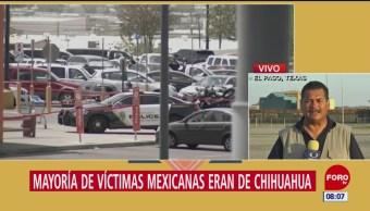 Mayoría de víctimas mexicanas de El Paso eran de Chihuahua
