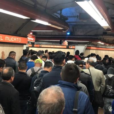 ¡Otra vez la Línea 7! Segundo lunes consecutivo de caos en el Metro de CDMX