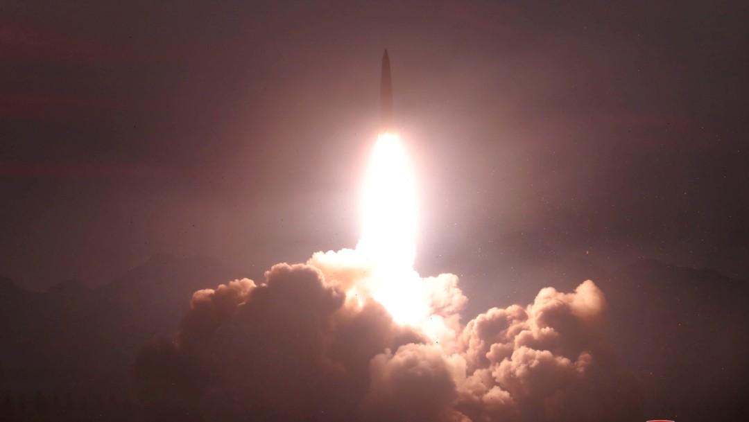 Foto: Prueba de lanzamiento de misil, 6 de agosto de 2019, Corea del Norte