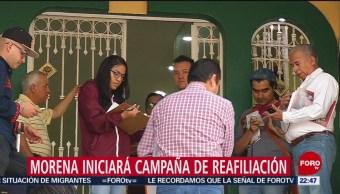 FOTO: Morena iniciará campaña de reafiliación, 18 Agosto 2019