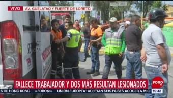 FOTO: Muere Trabajador Sistema Aguas Iztapalapa