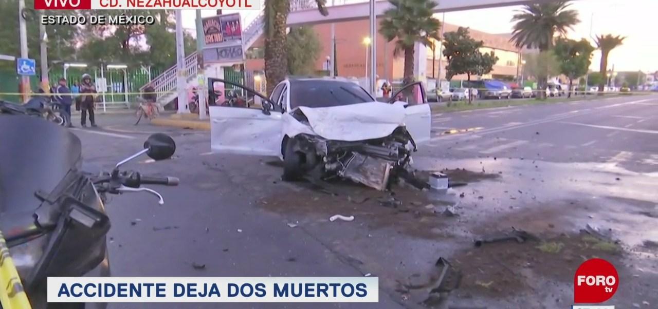 Mueren dos personas tras accidente vehicular en Nezahualcóyotl, Edomex