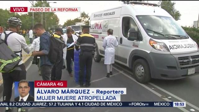 FOTO: Mujer muere atropellada patrulla Reforma CDMX